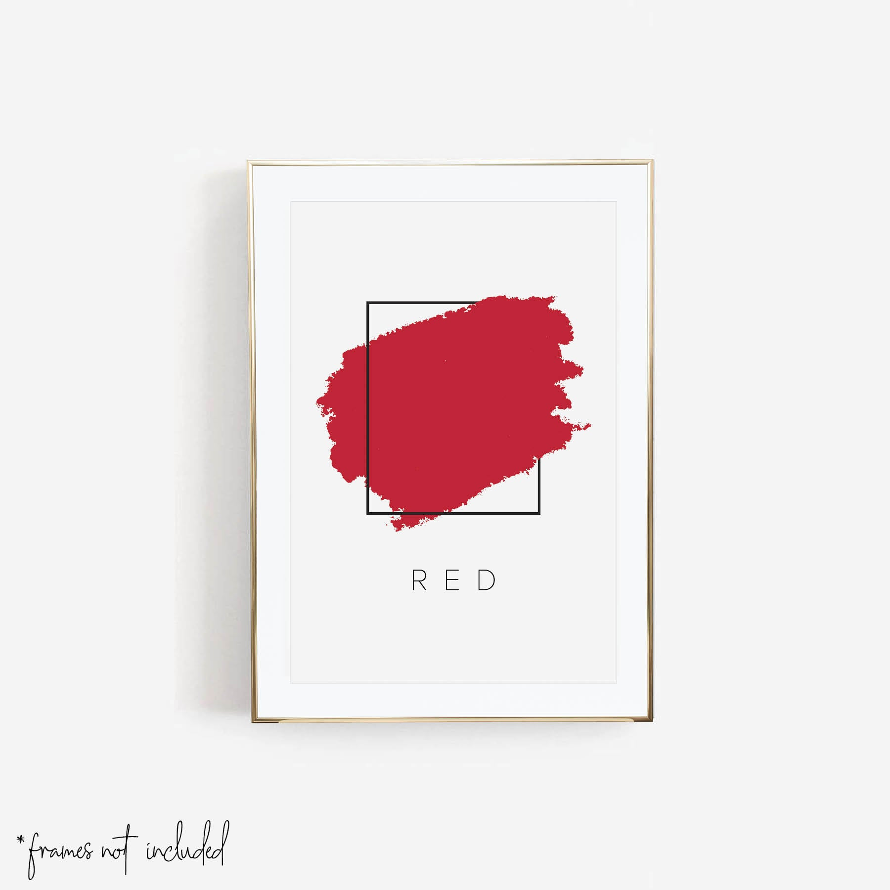 Red Color Box Print