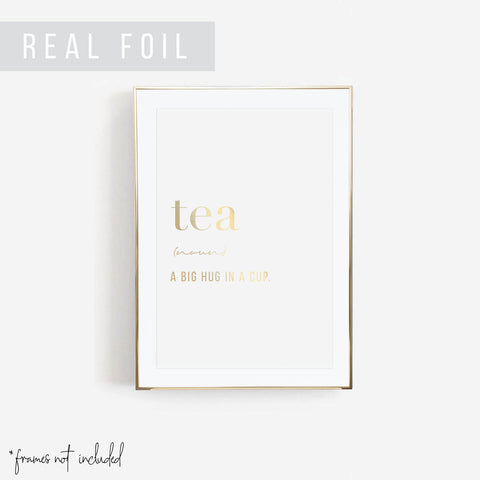 Tea Definition Foiled Art Print