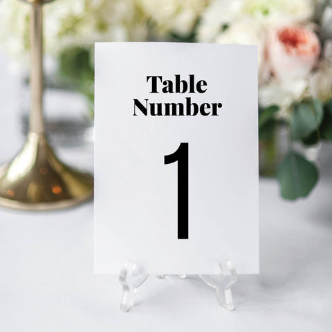 Bold and Modern Wedding Table Numbers