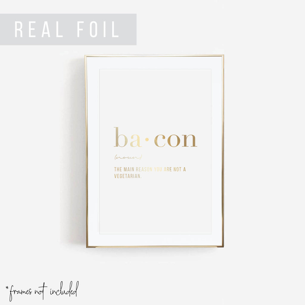 Bacon Definition Foiled Art Print - Typologie Paper Co
