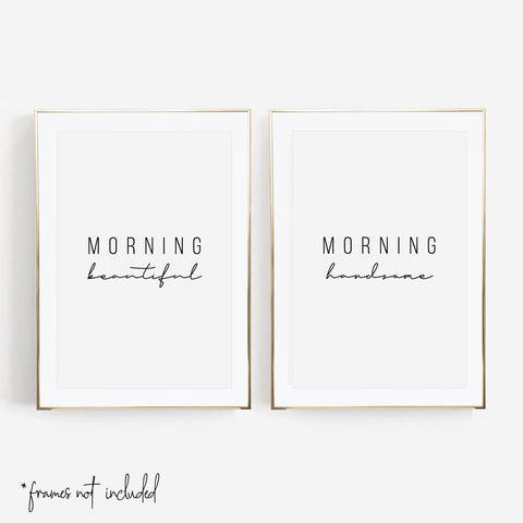 Morning Beautiful / Morning Handsome Print Set