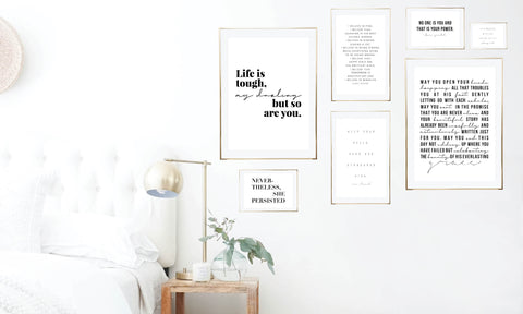 Minimal Feminine Gallery Wall Art Print Set