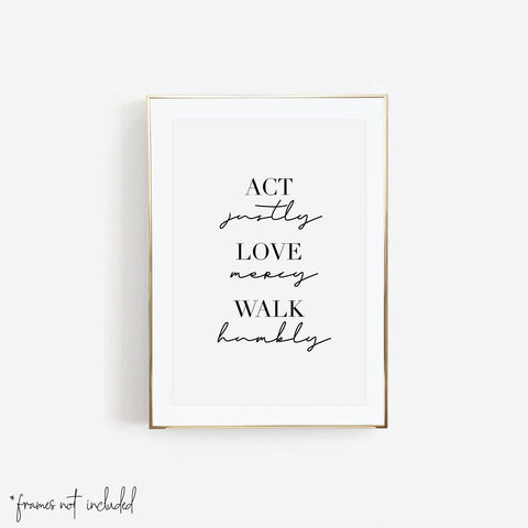 Act Justly, Love Mercy, Walk Humbly Print - Typologie Paper Co