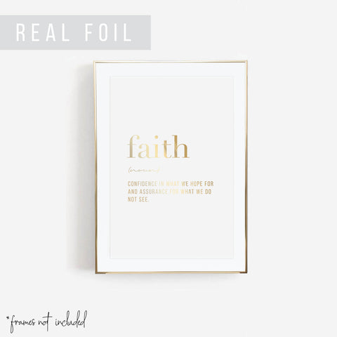 Faith Definition Foiled Art Print