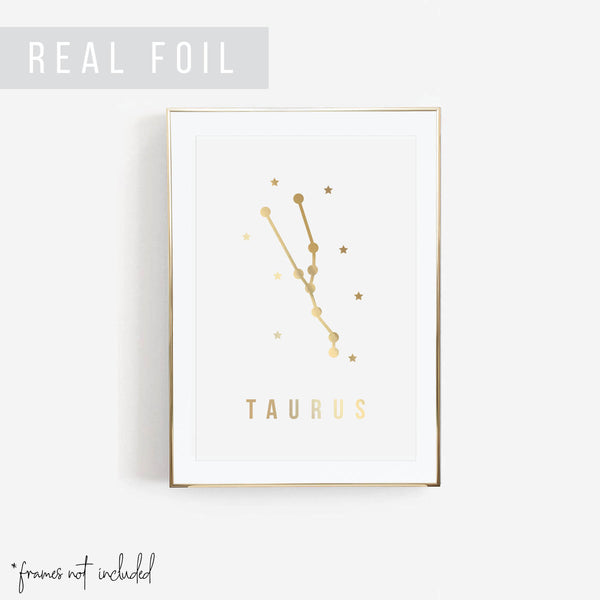 Taurus Foiled Art Print