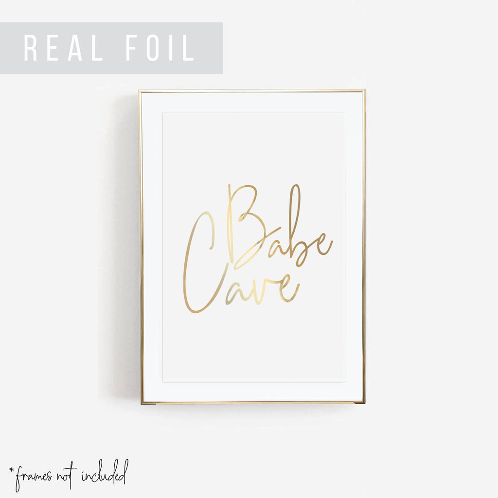 Babe Cave Foiled Art Print - Typologie Paper Co