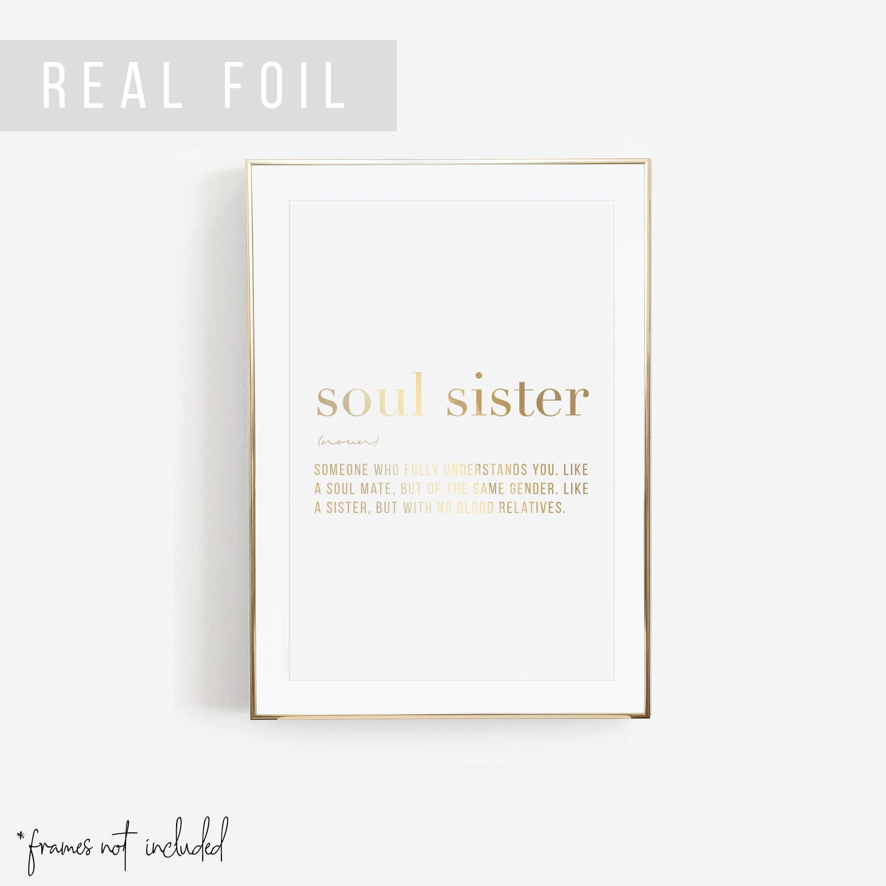 Soul Sister Definition Foiled Art Print
