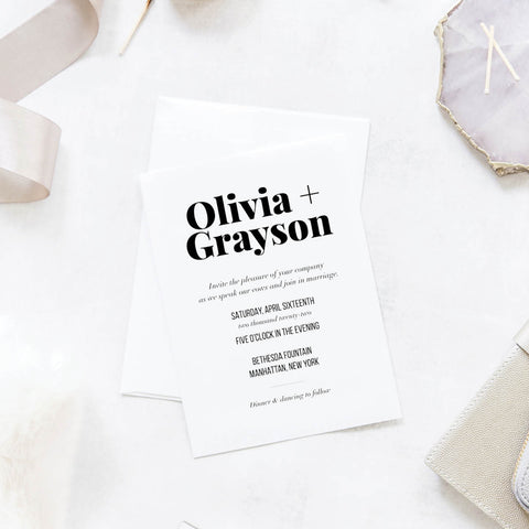 Bold and Modern Wedding Invitation