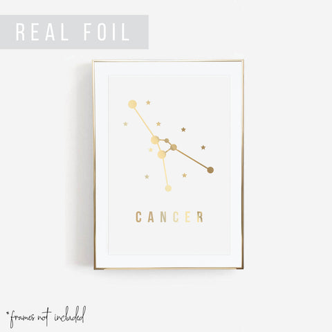 Cancer Foiled Art Print