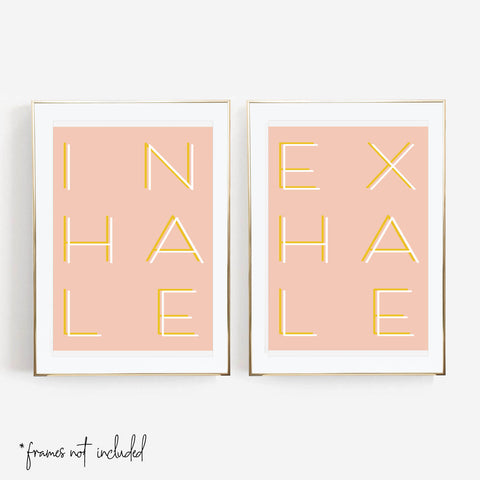 Inhale / Exhale Color Print Set