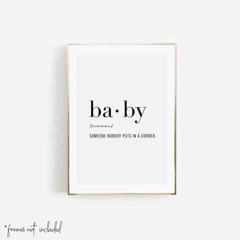 Baby Definition Print - Typologie Paper Co