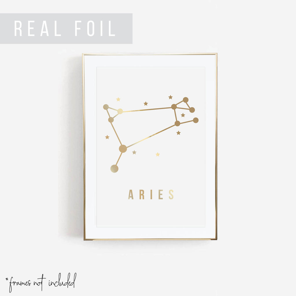 Aries Foiled Art Print - Typologie Paper Co