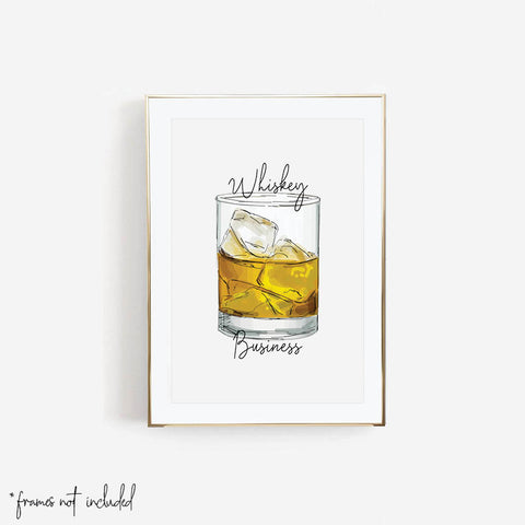 Whiskey Business Script Print