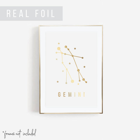 Gemini Foiled Art Print