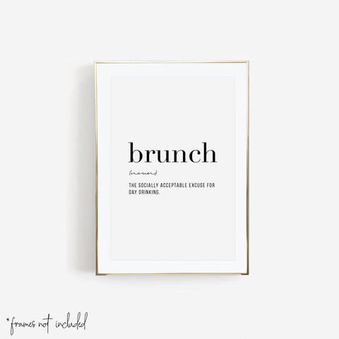 Brunch Definition Print