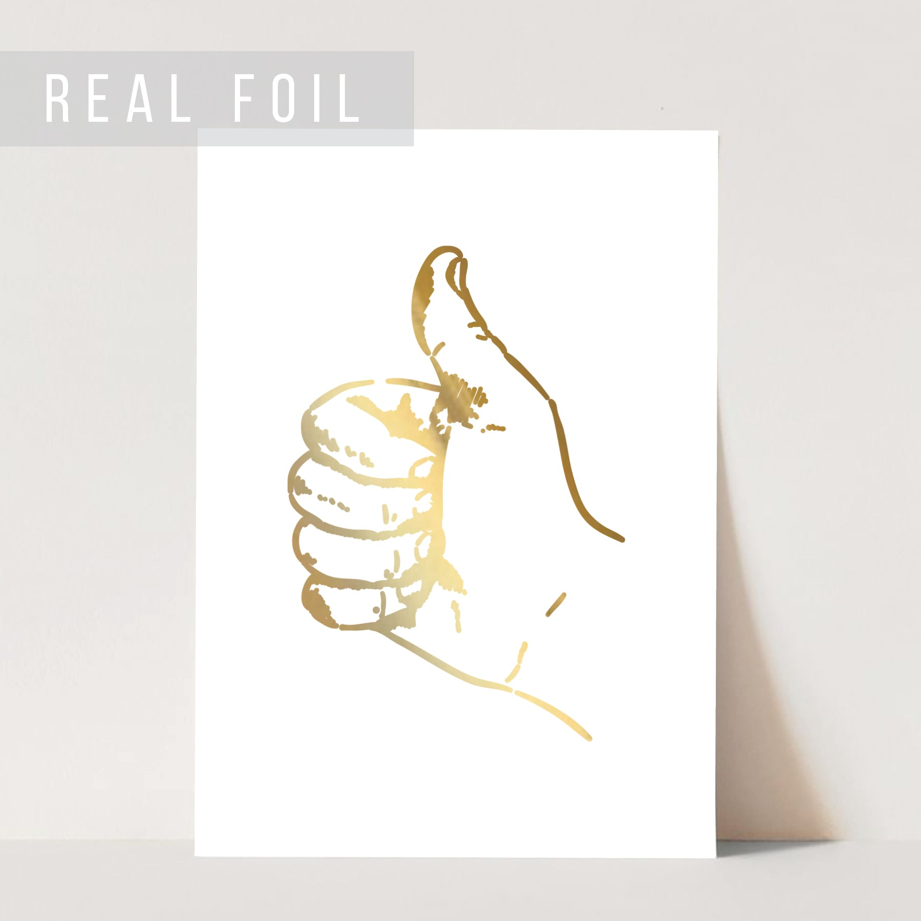 Thumbs Up Foiled Art Print