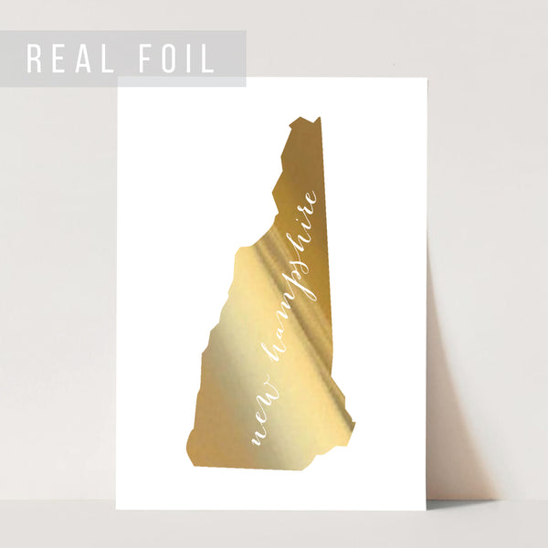 New Hampshire State Foiled Art Print