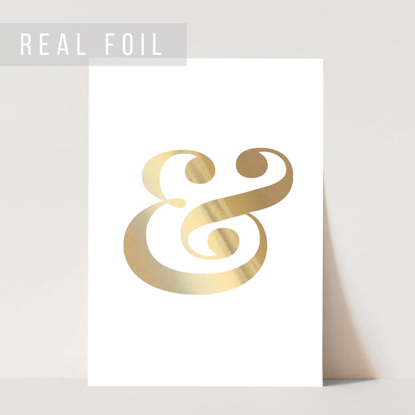Ampersand Foiled Art Print