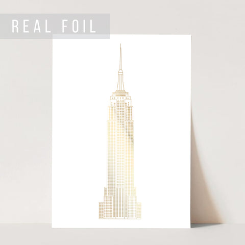 Empire State Building Foiled Art Print