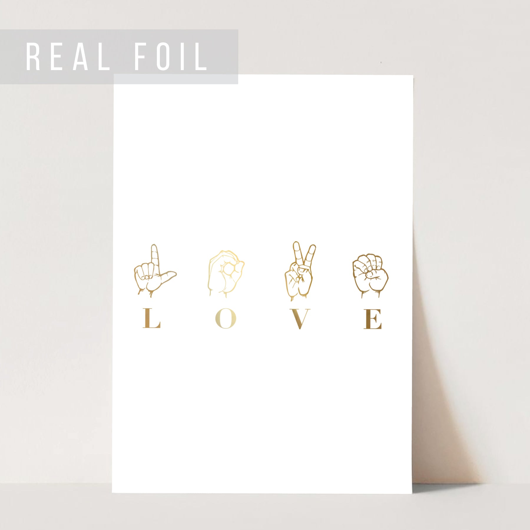 Love Sign Language Foiled Art Print