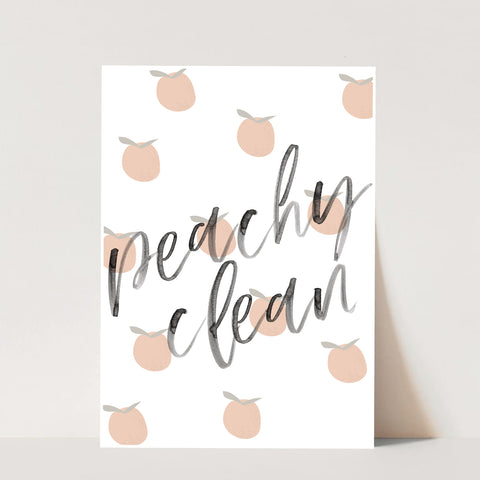 Peachy Clean Watercolor Script and Peaches Print