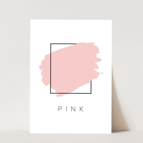 Pink Color Box Print