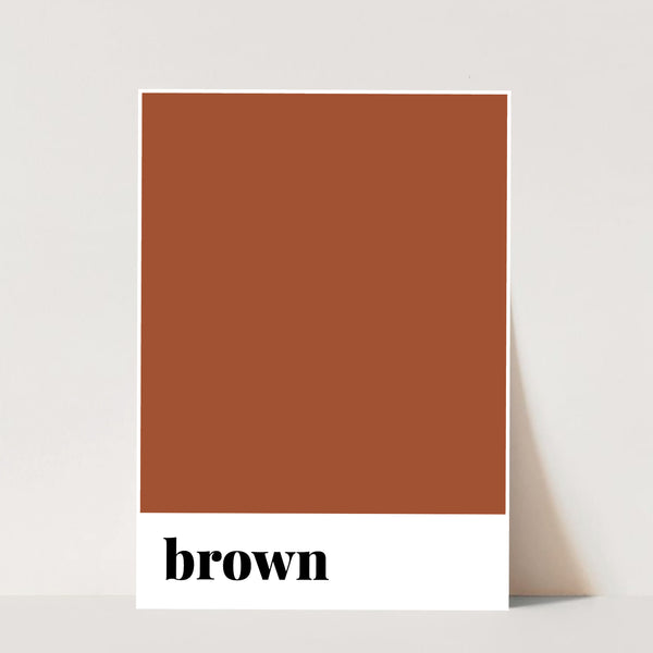 Brown Color Print