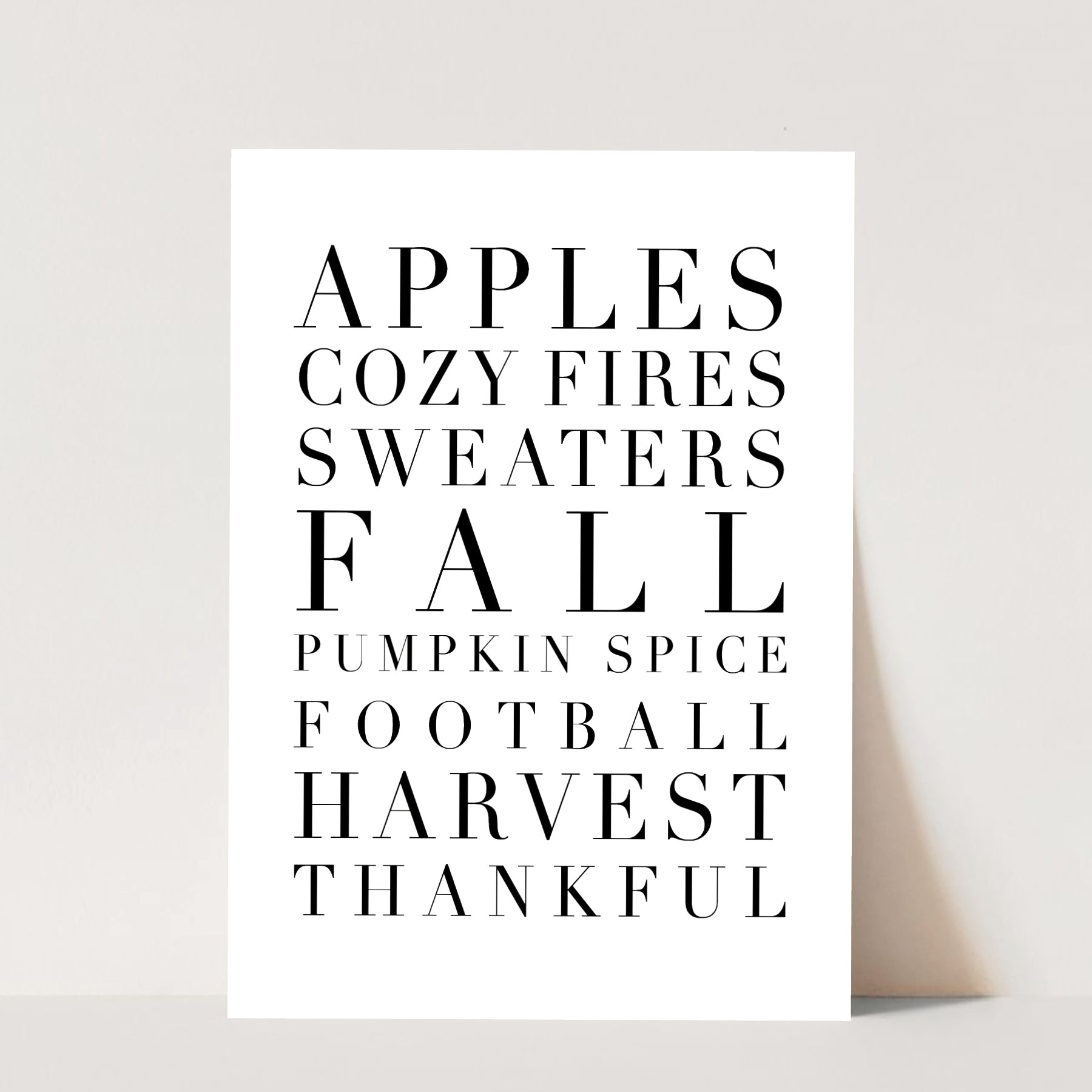 Fall Words Print