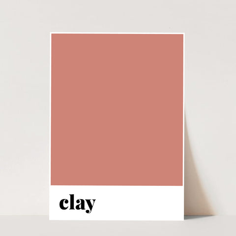 Clay Color Print