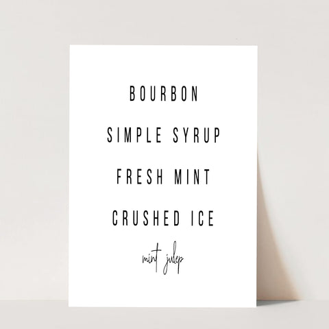 Mint Julep Cocktail Recipe Print