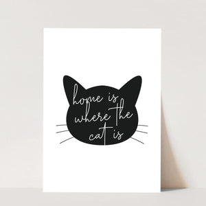Home Is Where the Cat Is Silhouette Print