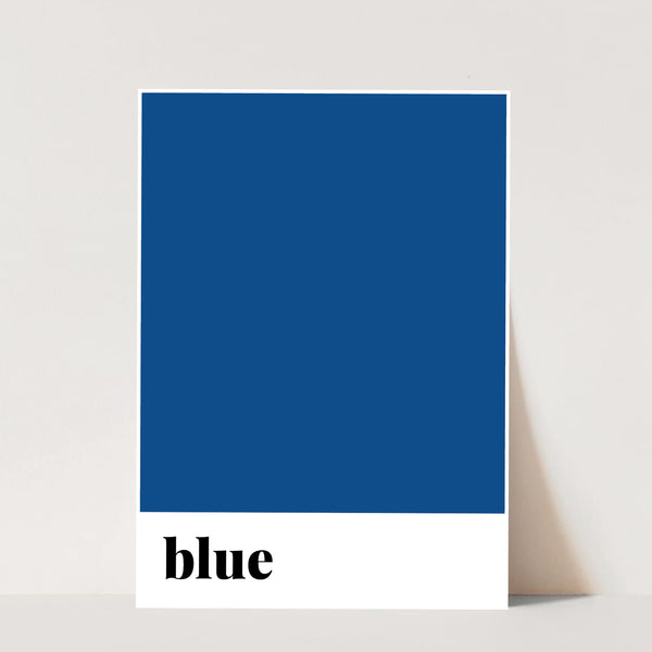 Blue Color Print