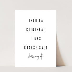 Classic Margarita Cocktail Recipe Print