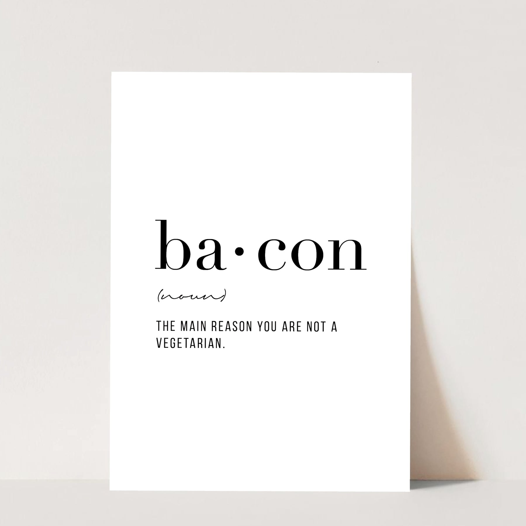 Bacon Definition Print