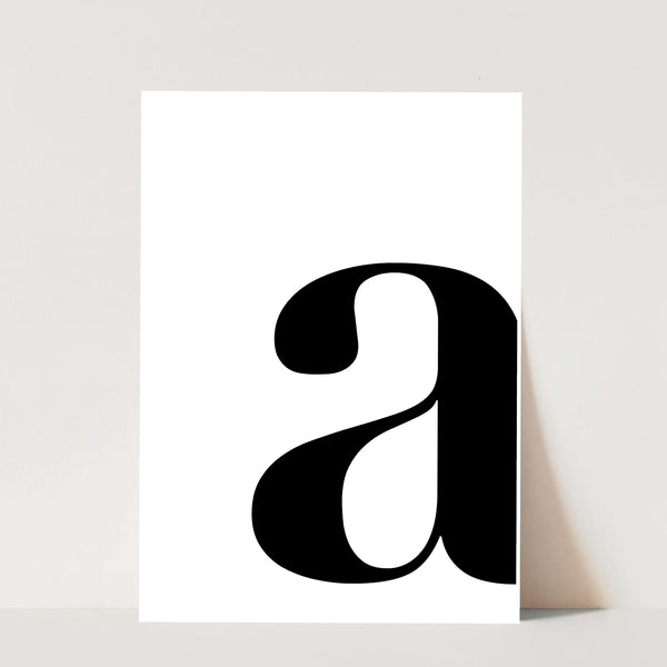 Lowercase Side Initial Print