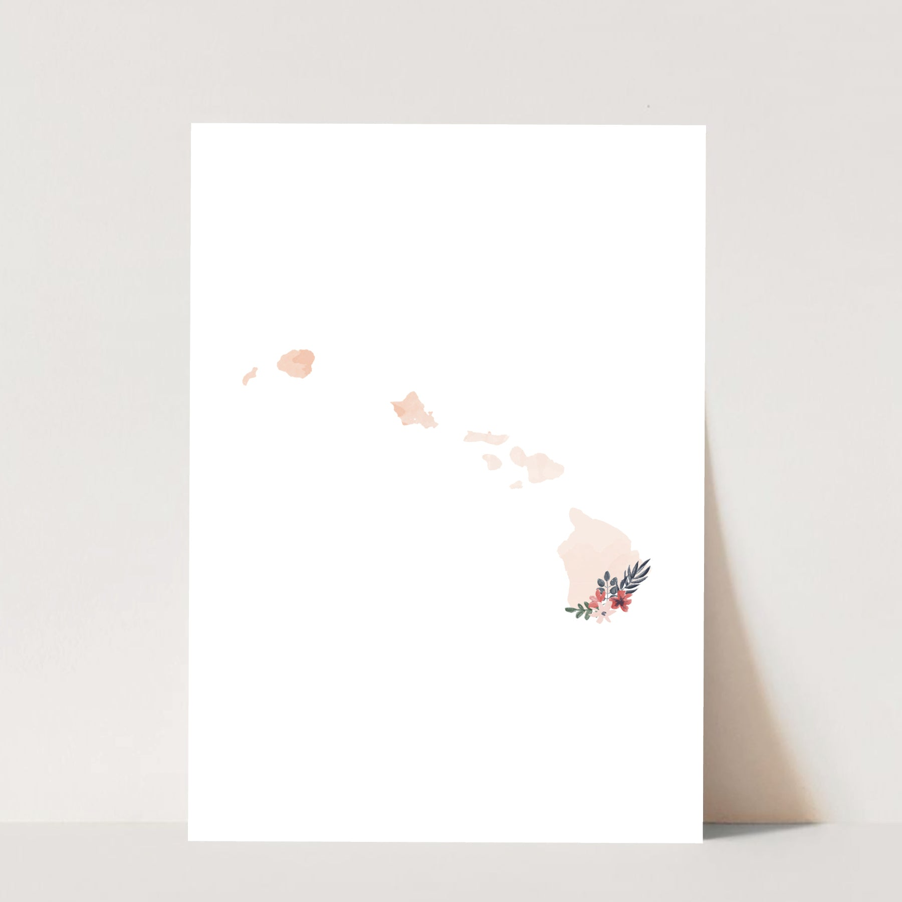 Watercolor Floral Hawaii Print