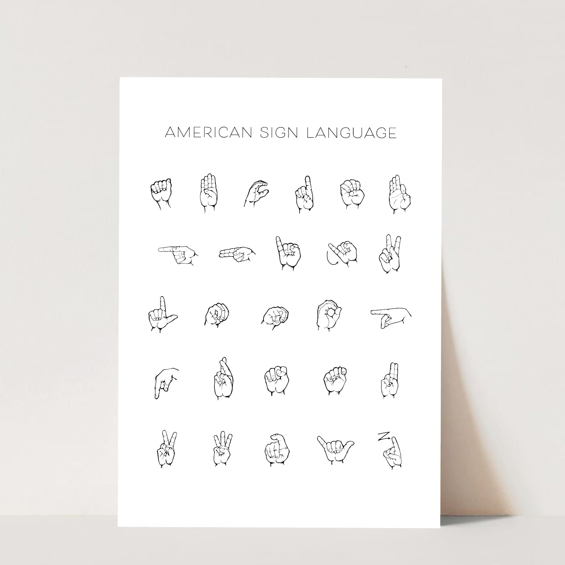 American Sign Language Print