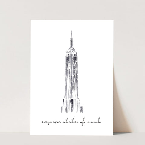 Empire State of Mind with the Empire State Building Print