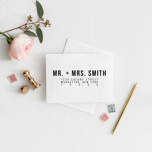 Bold Caps Wedding Envelope Addressing