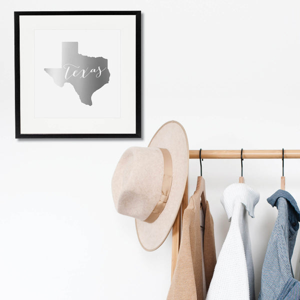 Texas State Foiled Art Print