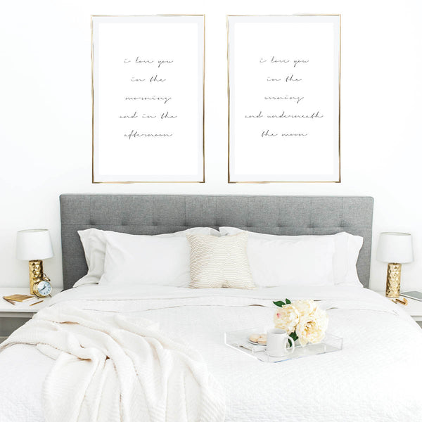 I Love You In the Morning and In the Afternoon / I Love You In the Evening and Underneath the Moon Print Set