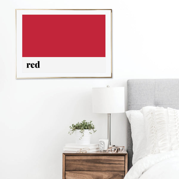 Red Color Print
