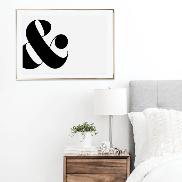 Large Side Ampersand Print