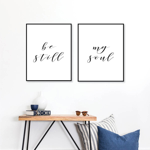 Be Still / My Soul Print Set - Typologie Paper Co