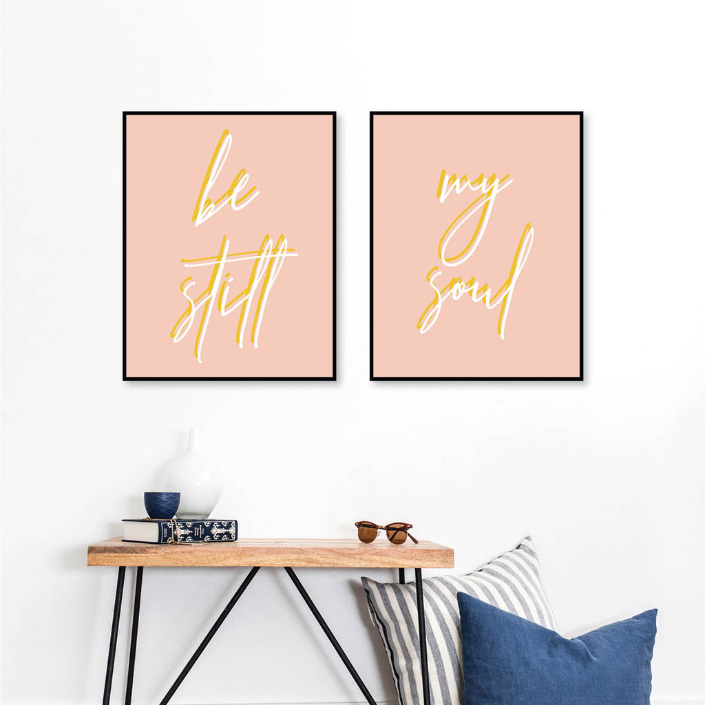 Be Still / My Soul Color Print Set - Typologie Paper Co