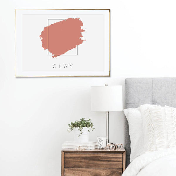 Clay Color Box Print