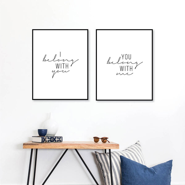 I Belong With You / You Belong With Me Print Set
