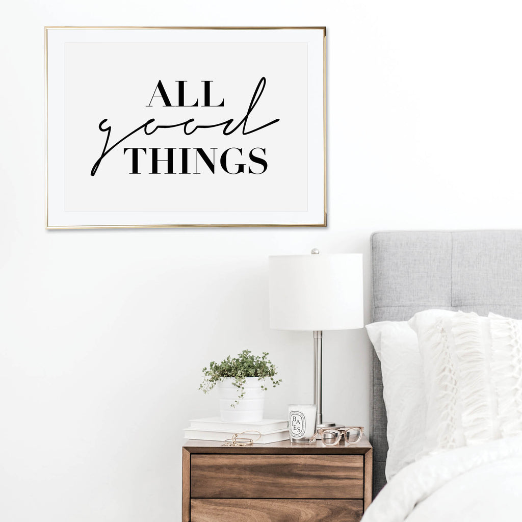 All Good Things Print - Typologie Paper Co