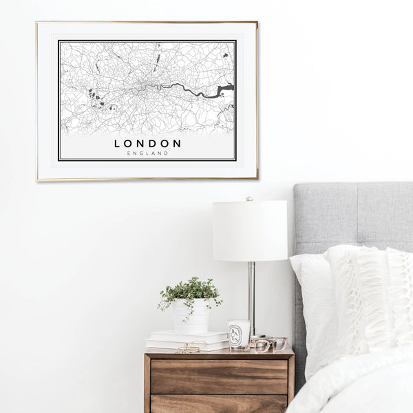 London England Street Map Print