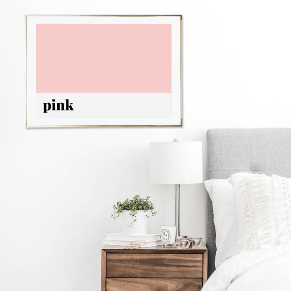 Pink Color Print